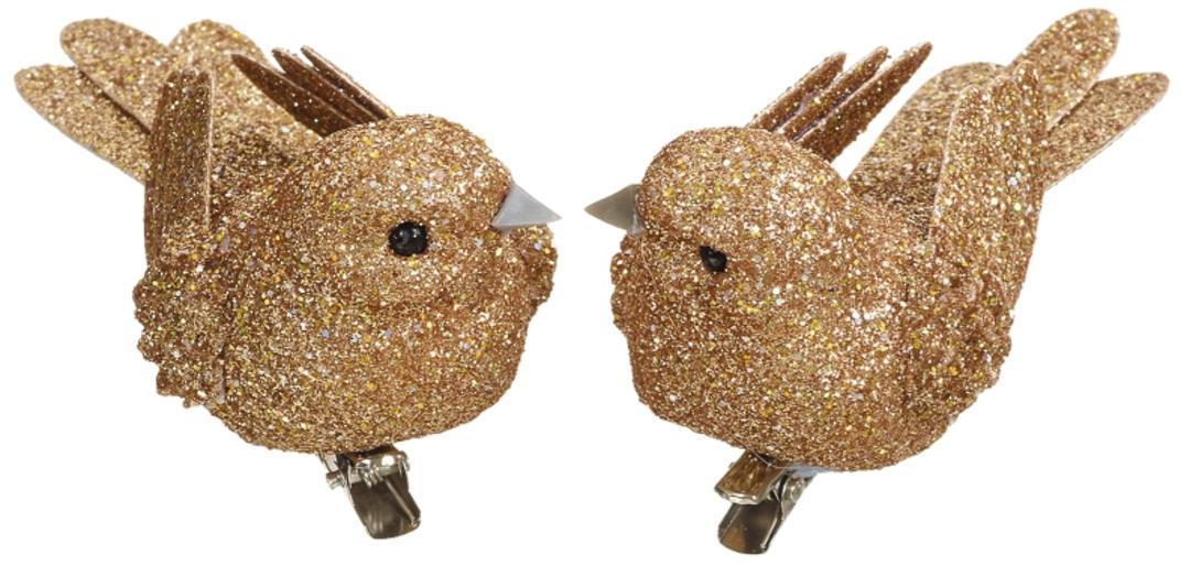 BirdClip Copper Glitter 10cm image 0