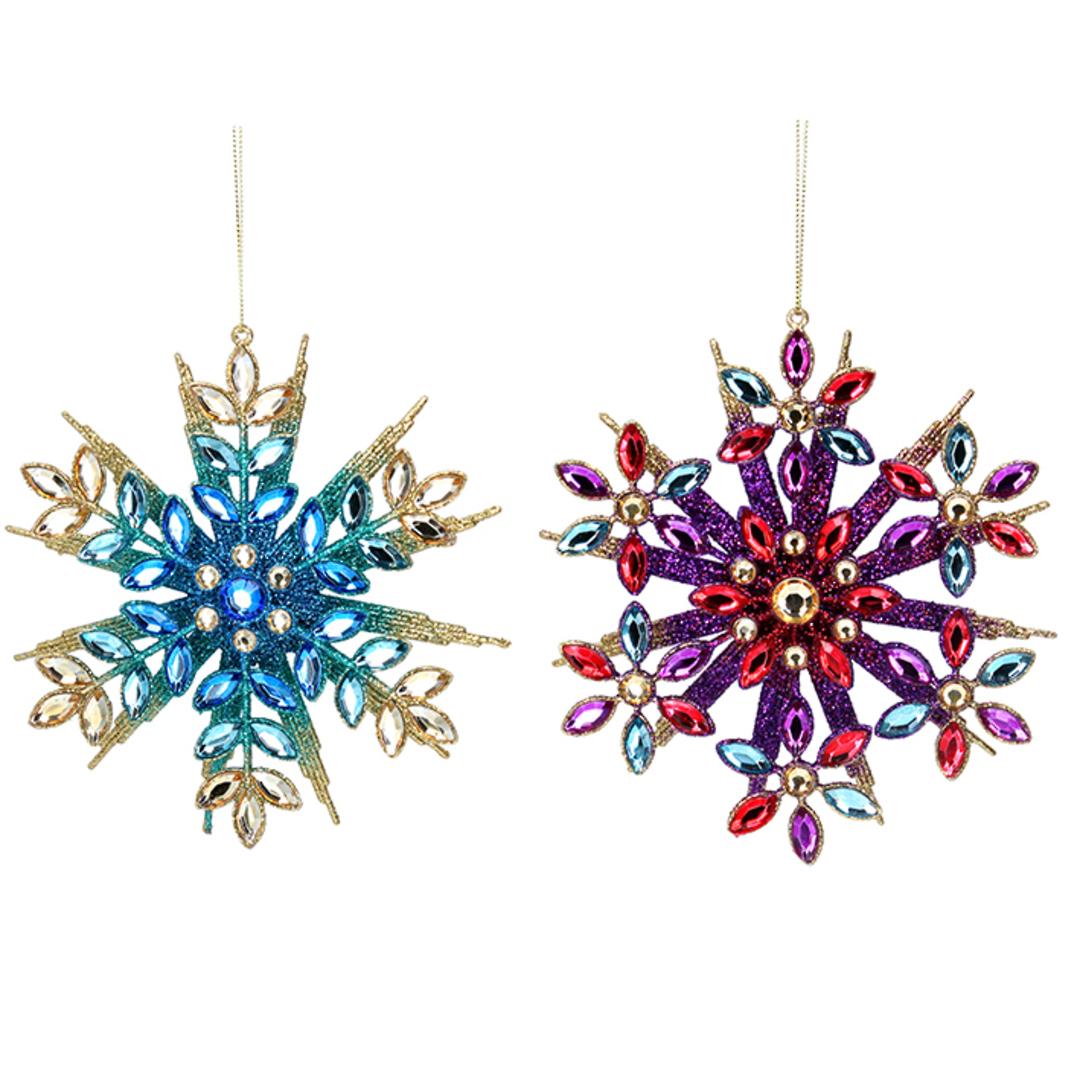 Acrylic Multi Colour Snowflake 14cm image 0
