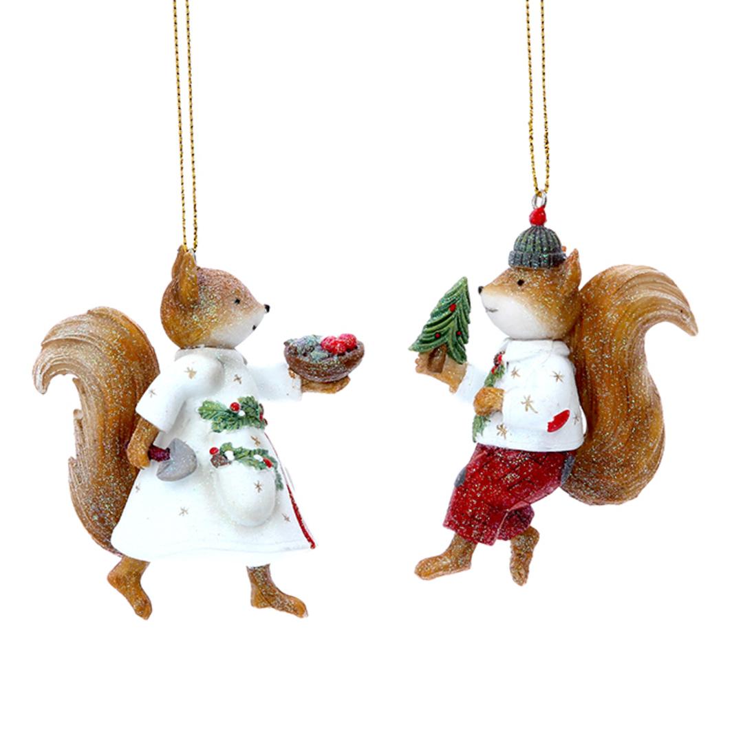 Resin Mr/Mrs Squirrel 9cm image 0