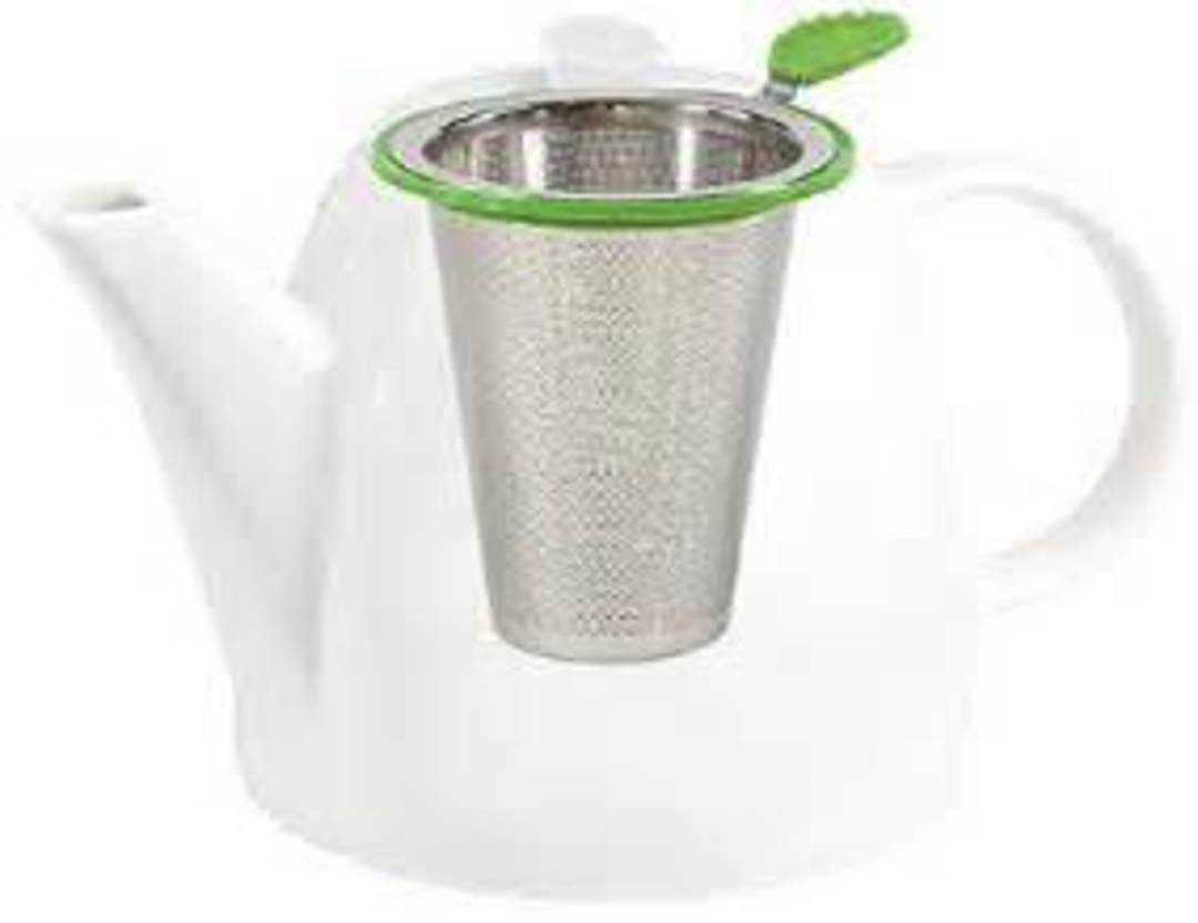 Stainless Steel Filter with Silicon Tea Leaf Handle image 0