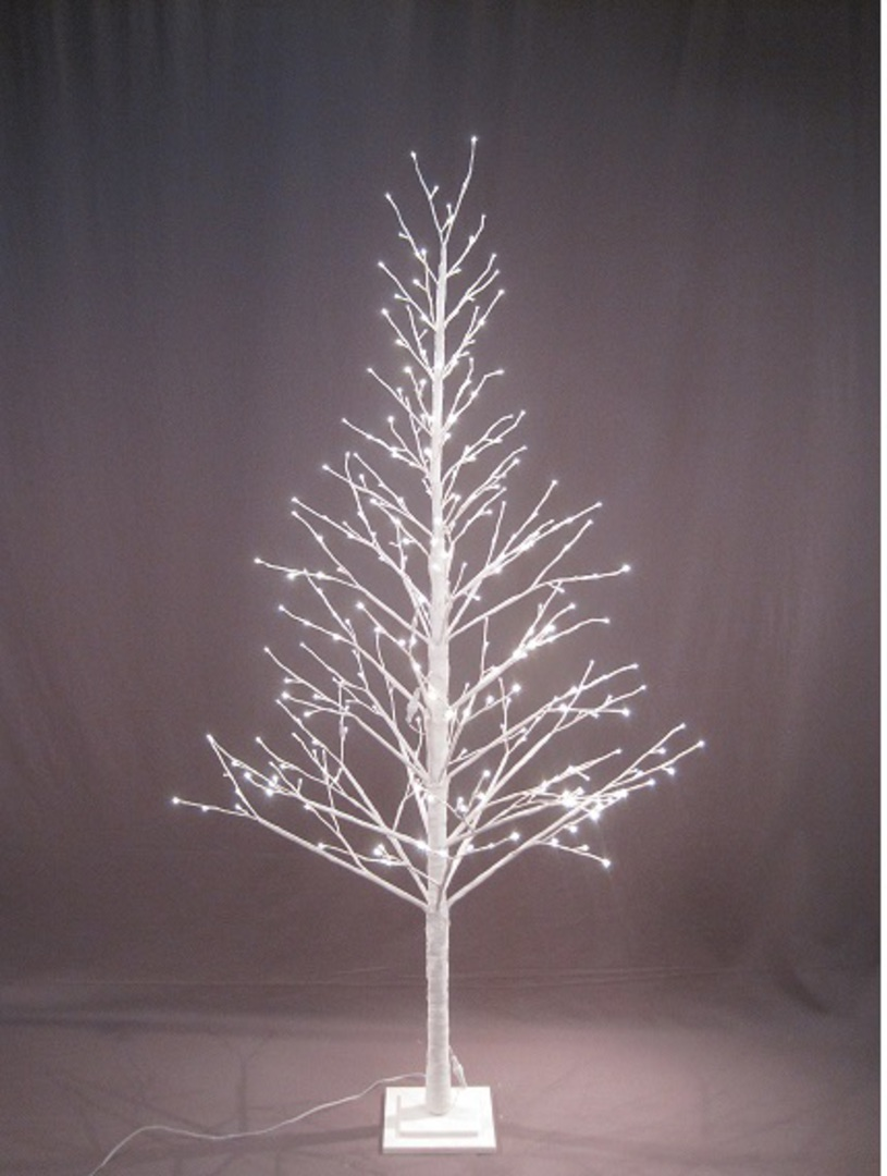 White Twig Tree 2.1mtr with LED Lights image 0