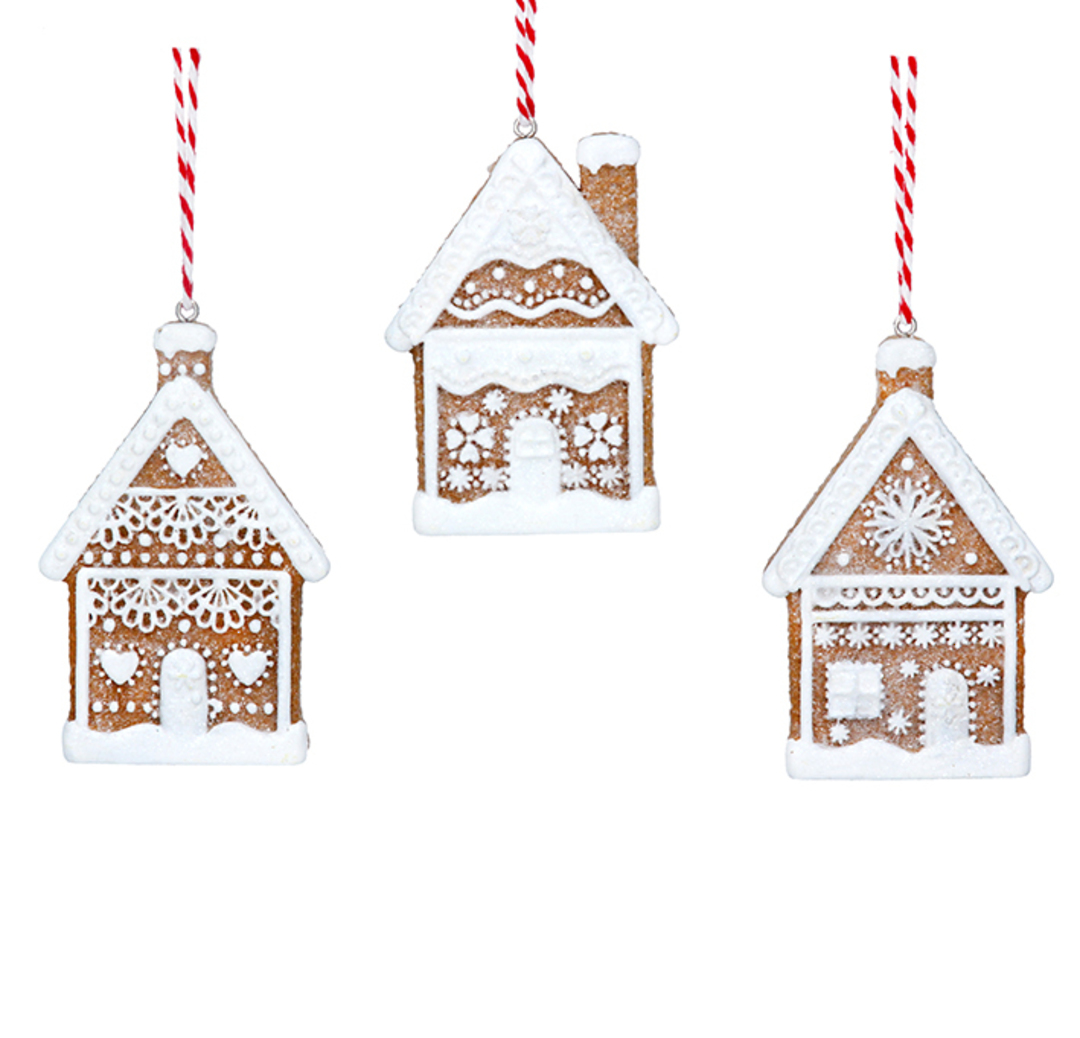 Resin Noel 2D Gingerbread House 7cm image 0