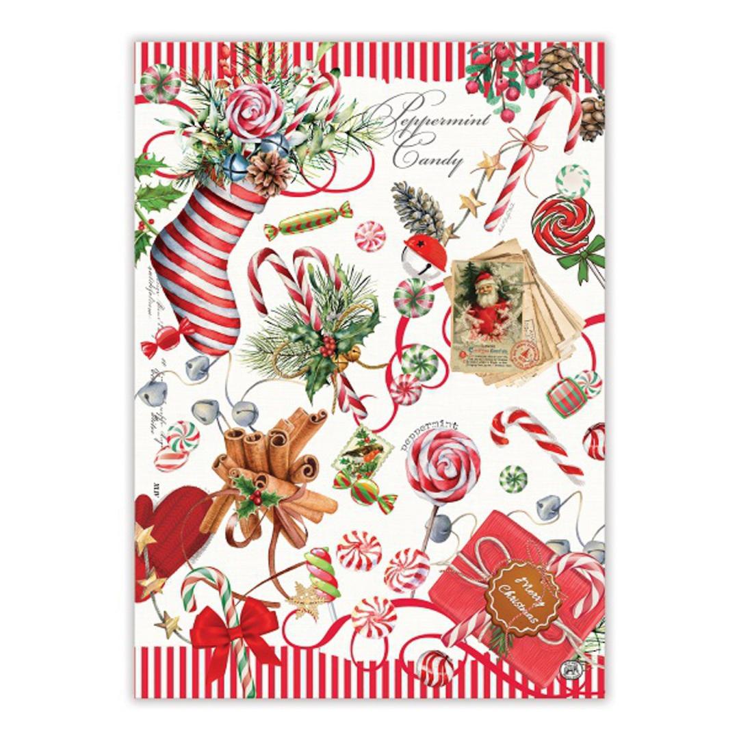 Christmas Peppermint Tea Towel image 0