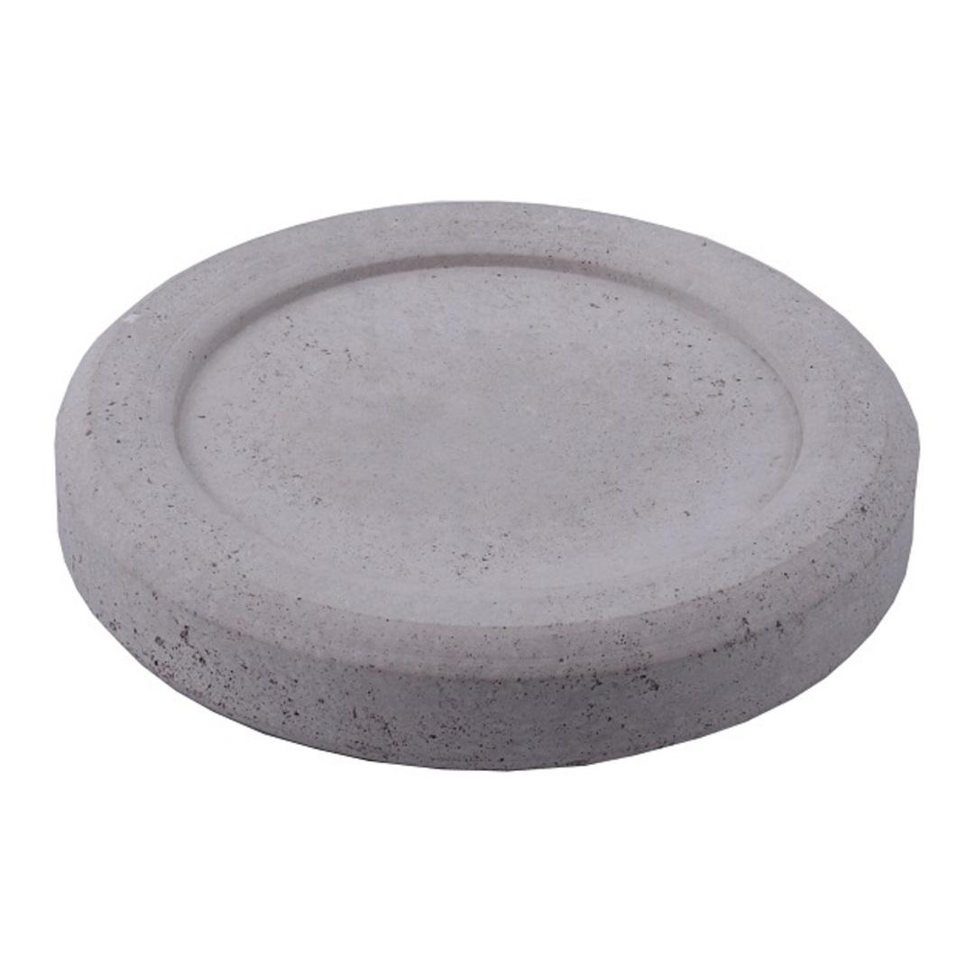 Concrete Plate Candle Coaster 12cm image 0