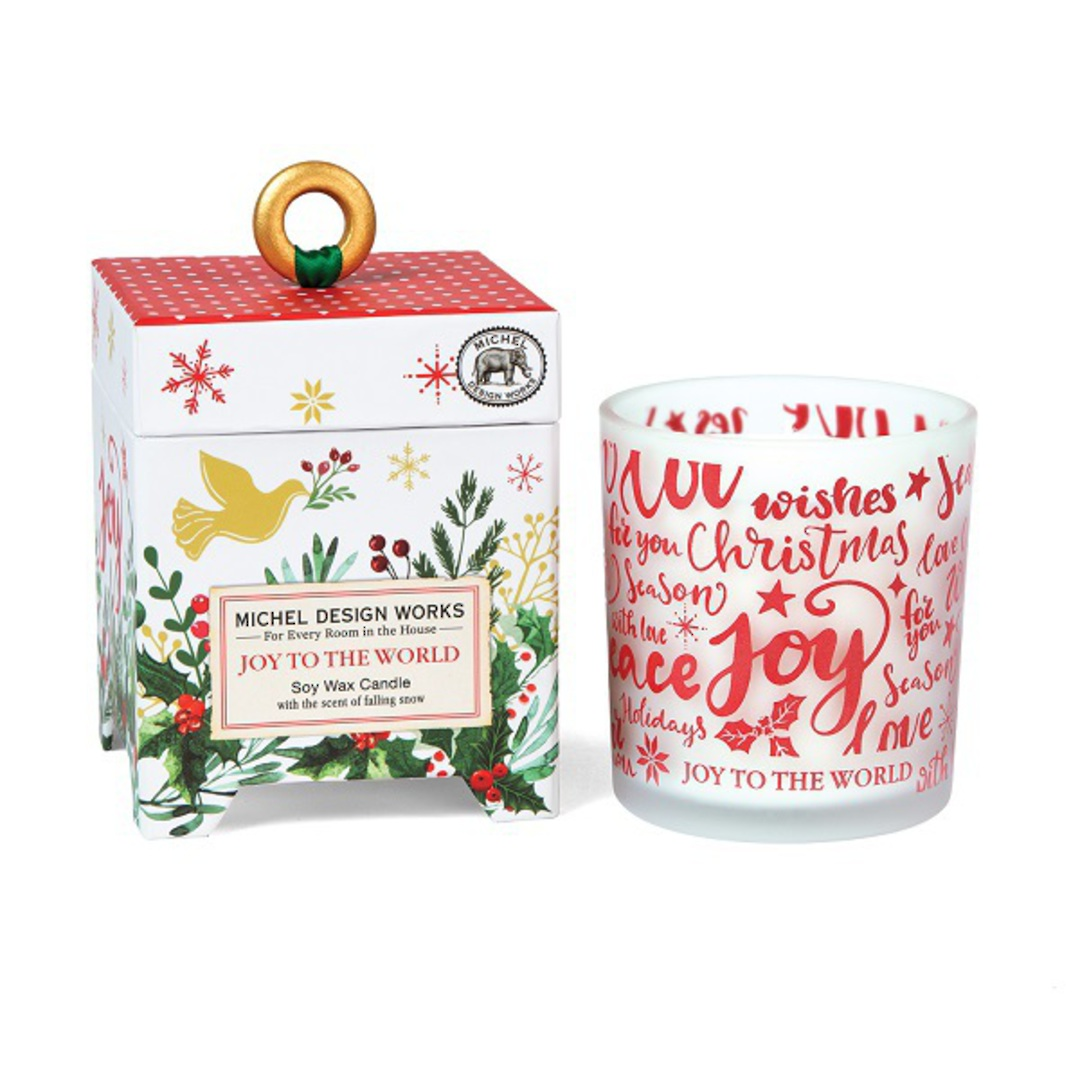 Joy to the World Soy Wax Candle image 0