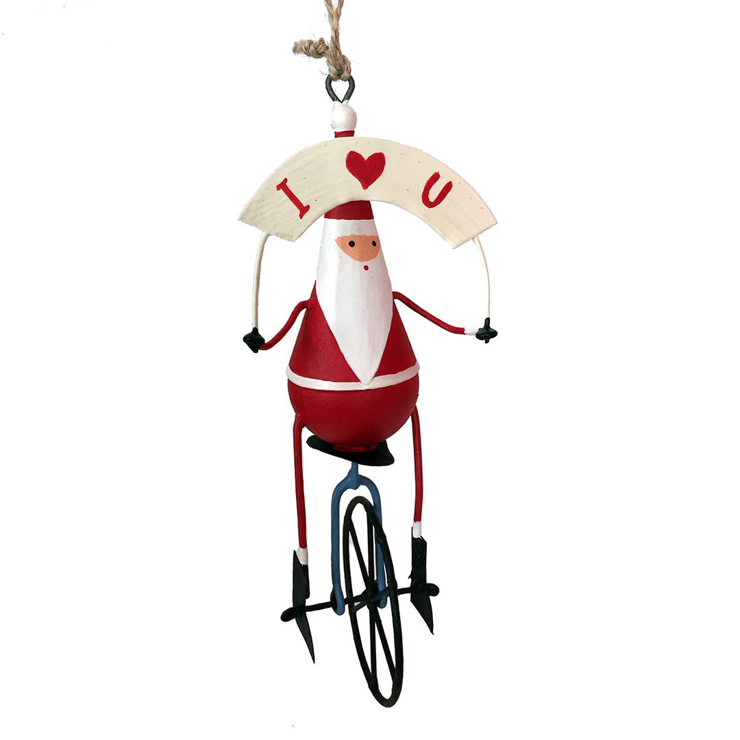 Tin Santa on Unicycle image 0