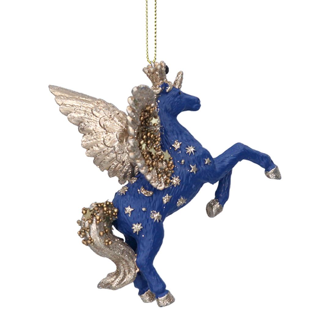 Resin Cobalt Starlight Unicorn 9cm image 0