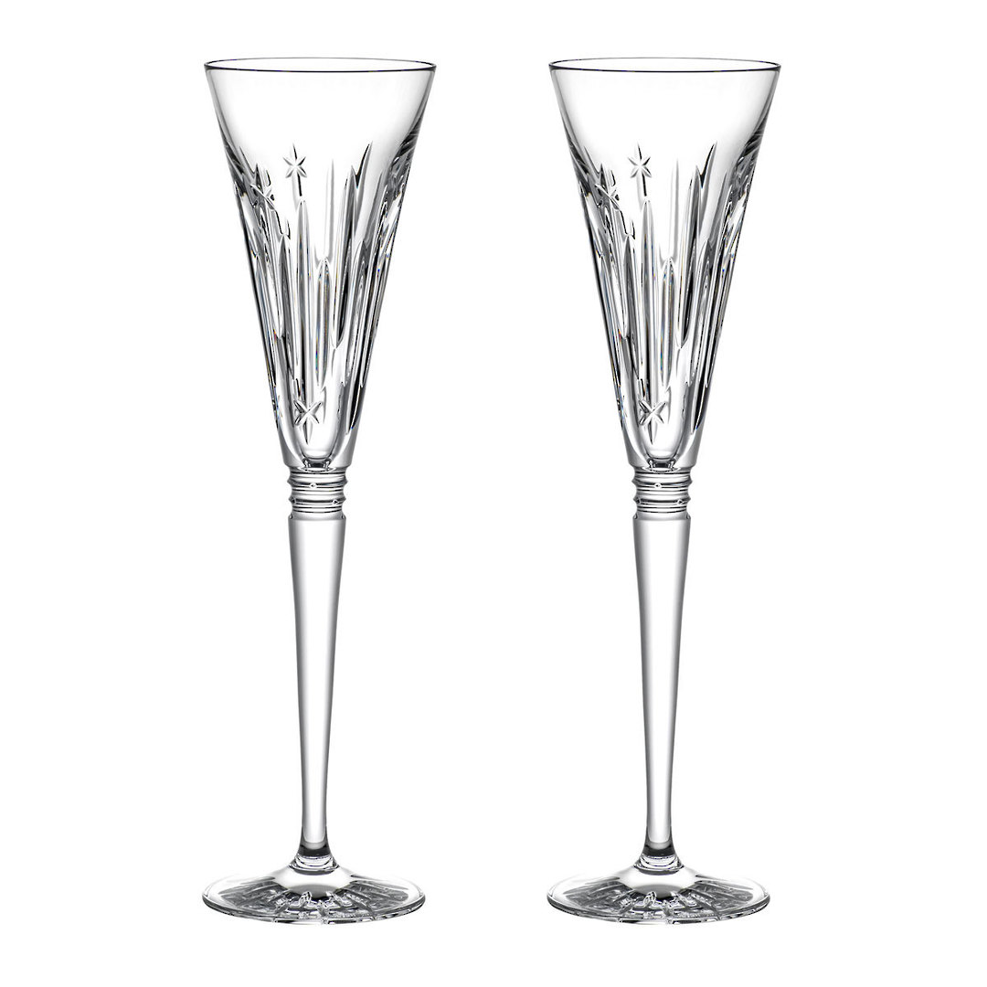 Waterford Winter Wonders Midnight Frost Flutes, Pair 2021 image 0