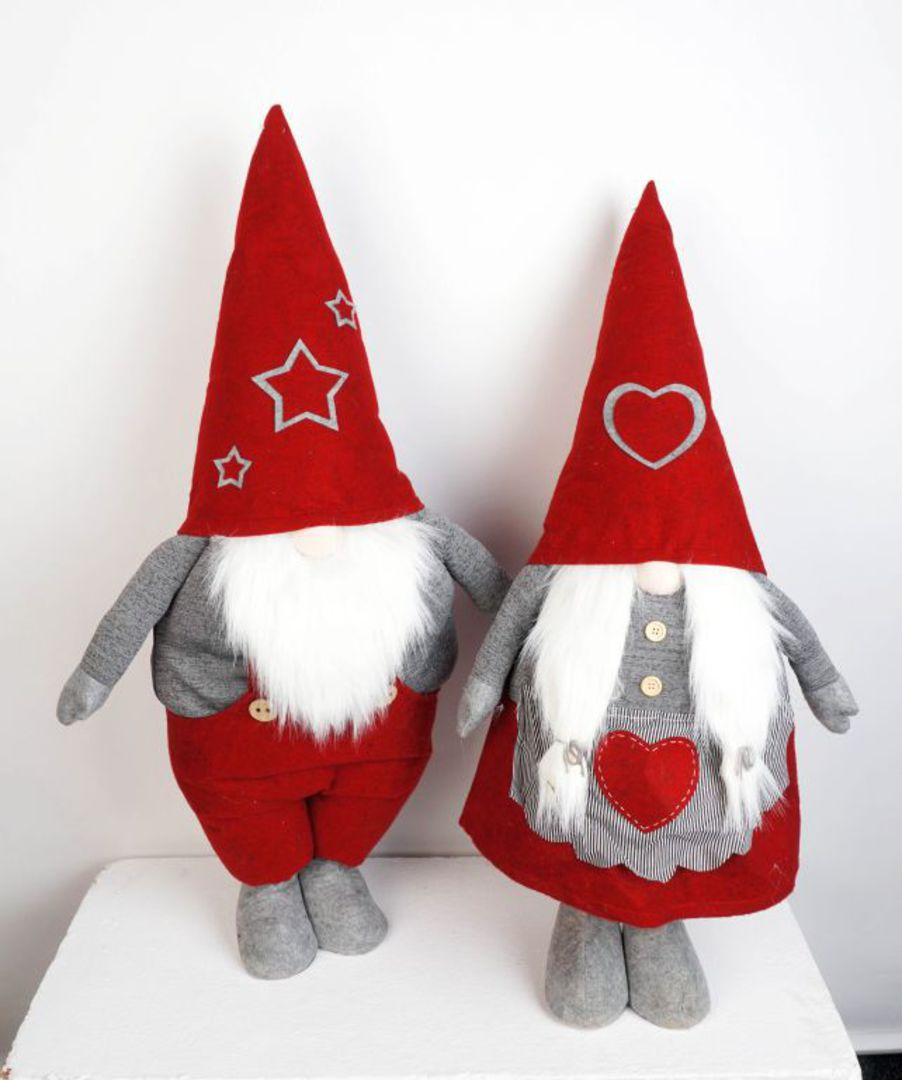 Standing Nordic Mr or Mrs Santa Gnome 94cm image 0