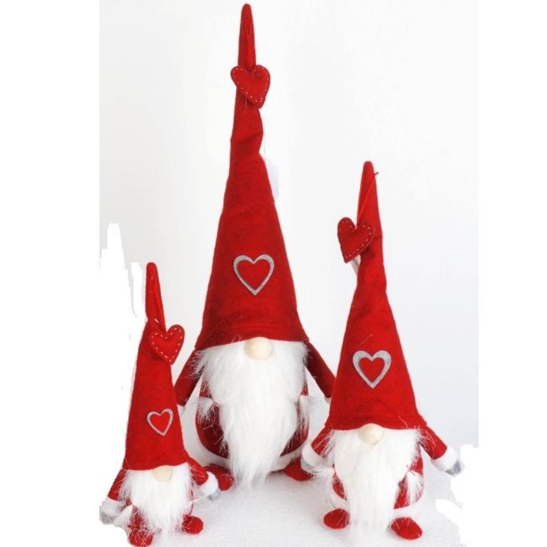Plush Santa Amore, Red Hat image 0