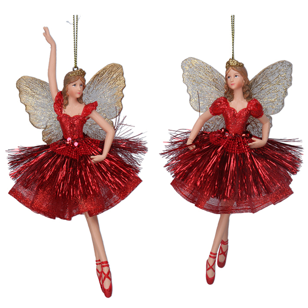Resin Fairy Princess Red Dress 17cm image 0