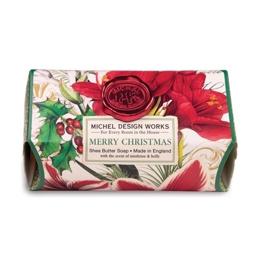 Merry Christmas Large Soap Bar image 0