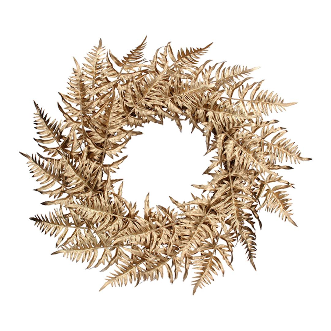 Gold Fern Wreath 56cm image 0
