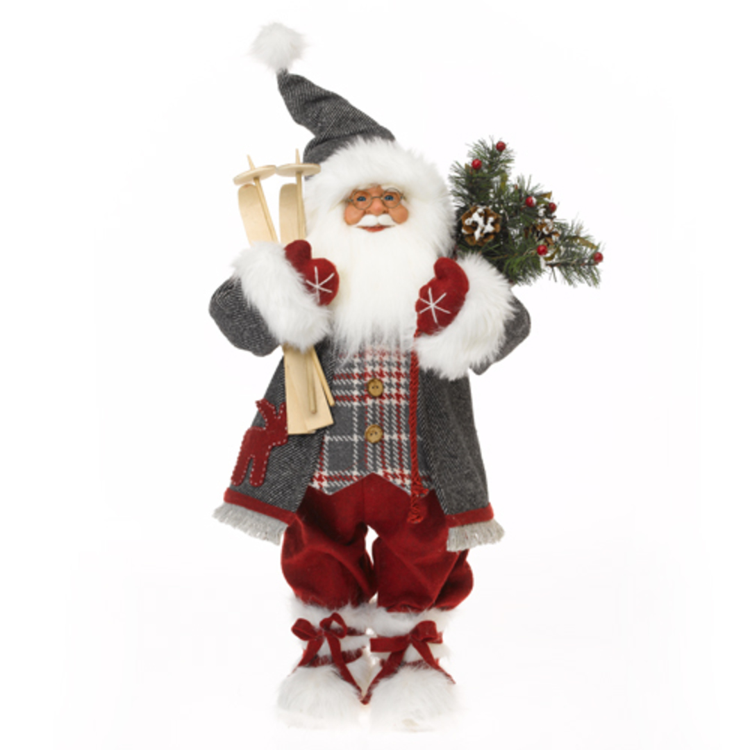Santa Red Coat with Plaid Vest image 0