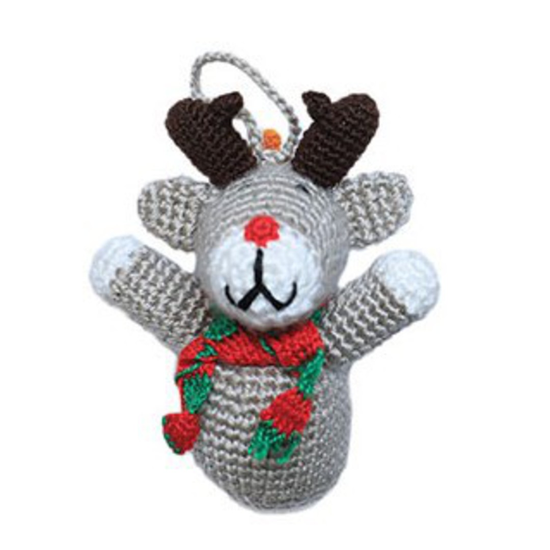 Small Crocheted Reindeer image 0