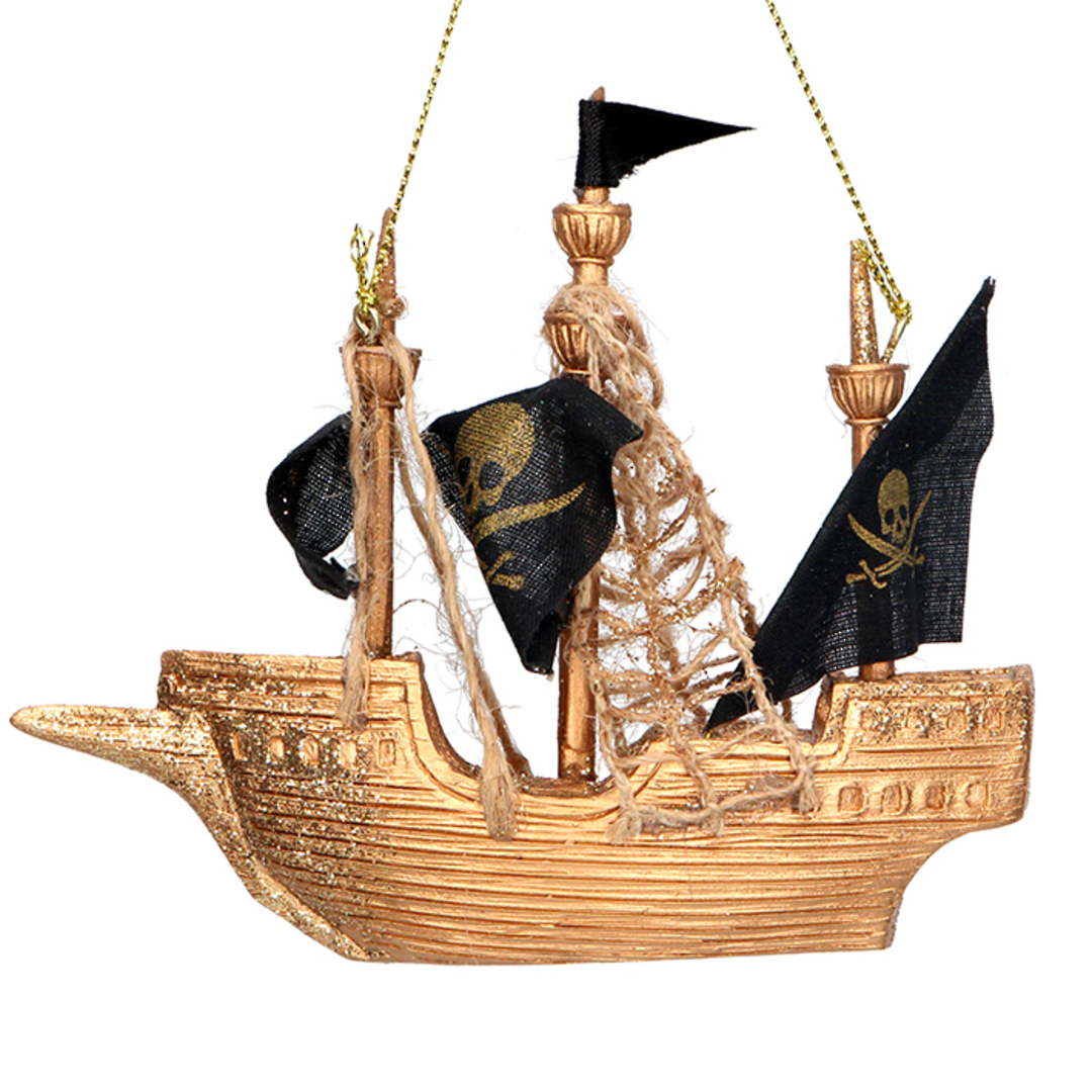 Resin Pirate Ship 11cm image 0