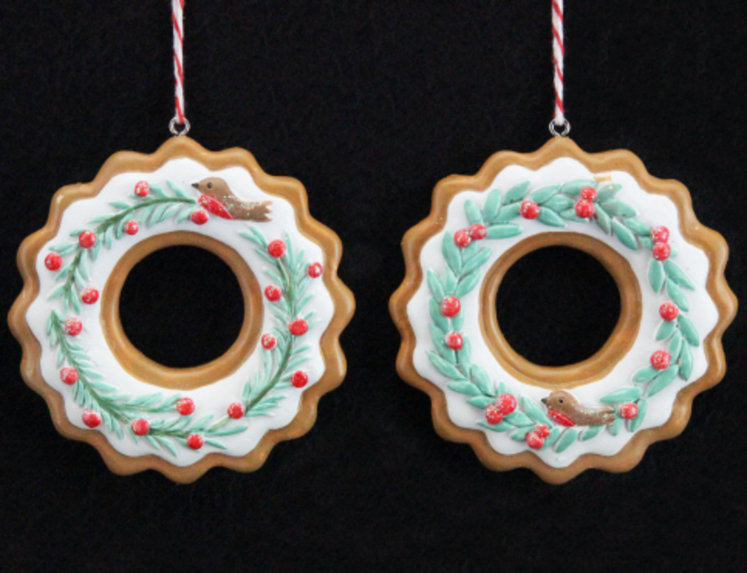 Resin Nordic Gingerbread Wreath image 0