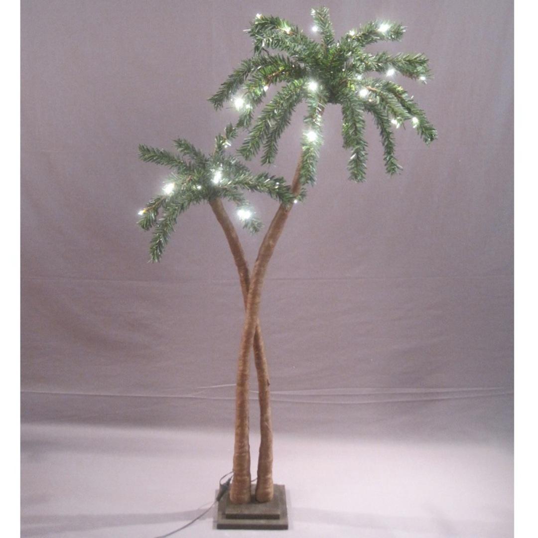 Coconut Palm Tree 1.2mtr, 48 LED Lights image 0