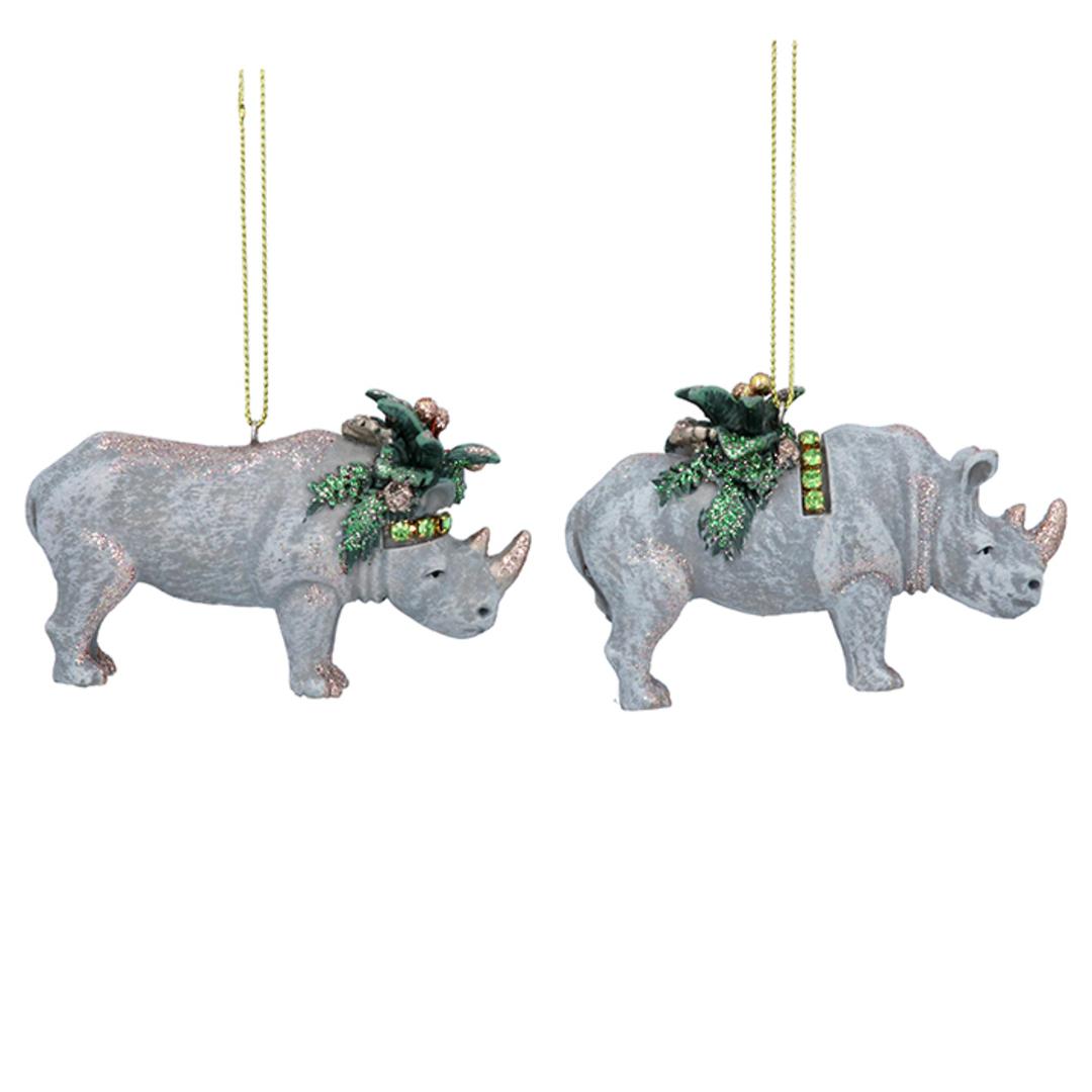 Resin Noble Jungle Rhino 8cm image 0