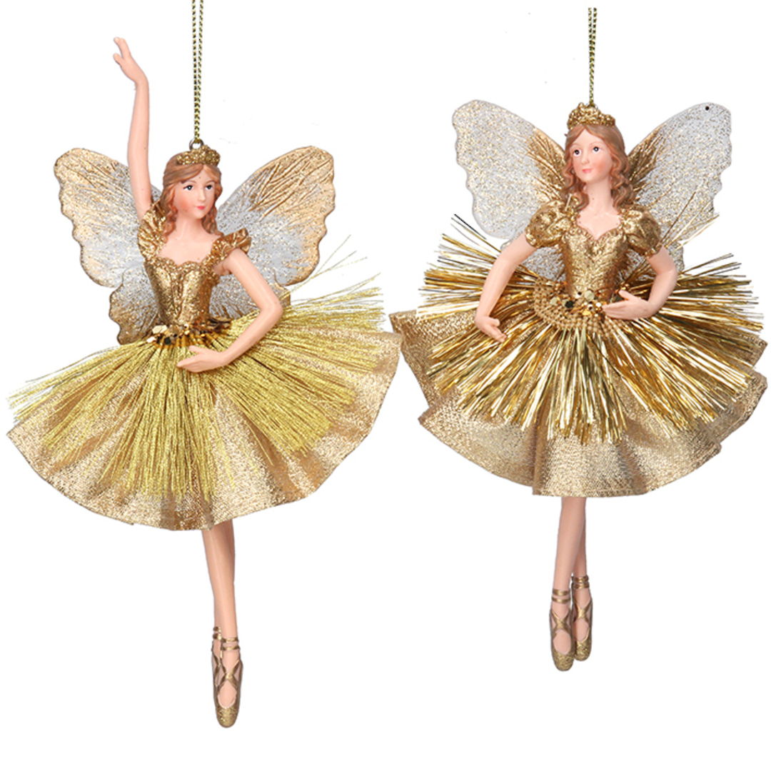 Resin Fairy Princess Gold Dress 17cm image 0