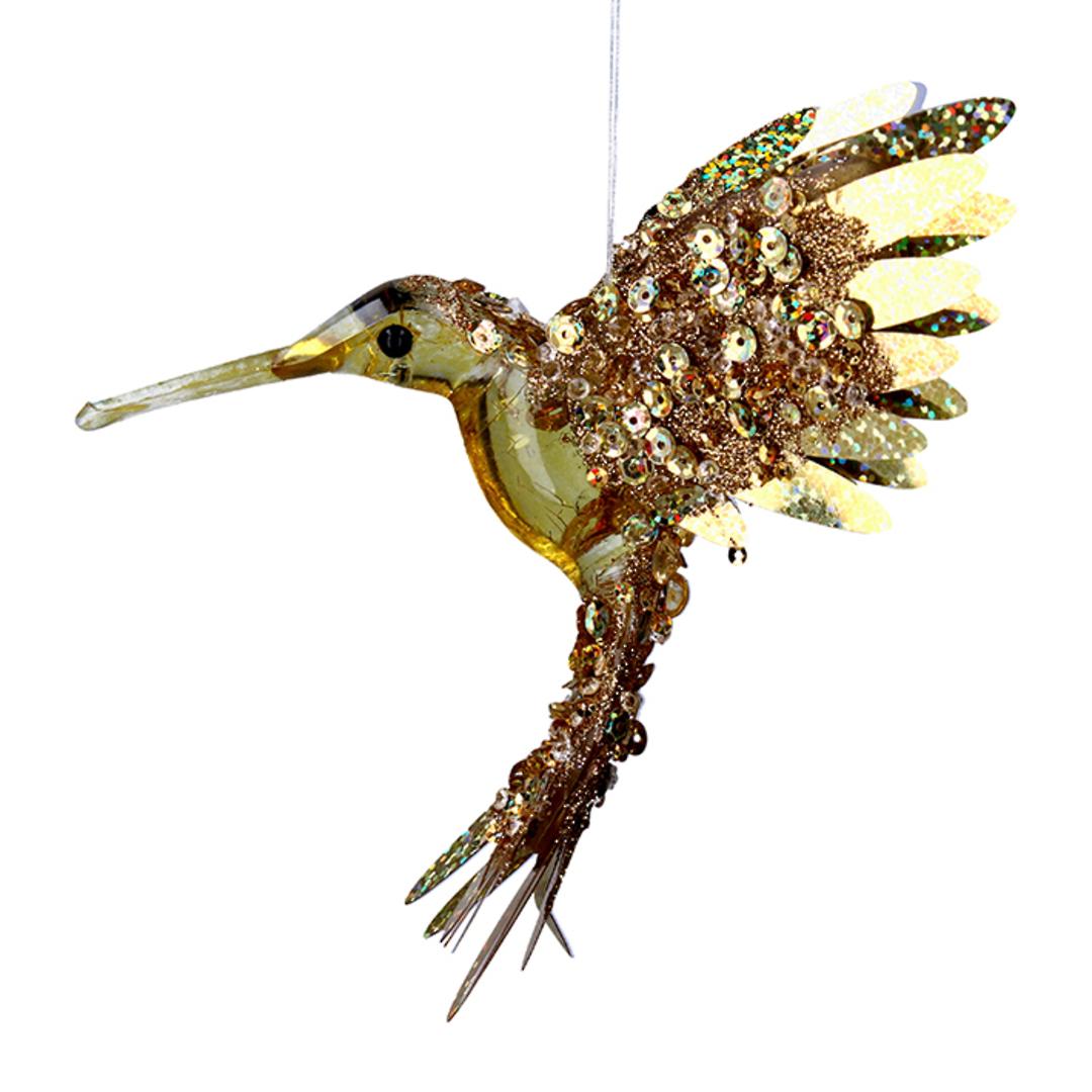 Bling Gold Flying HummingBird 15cm image 0