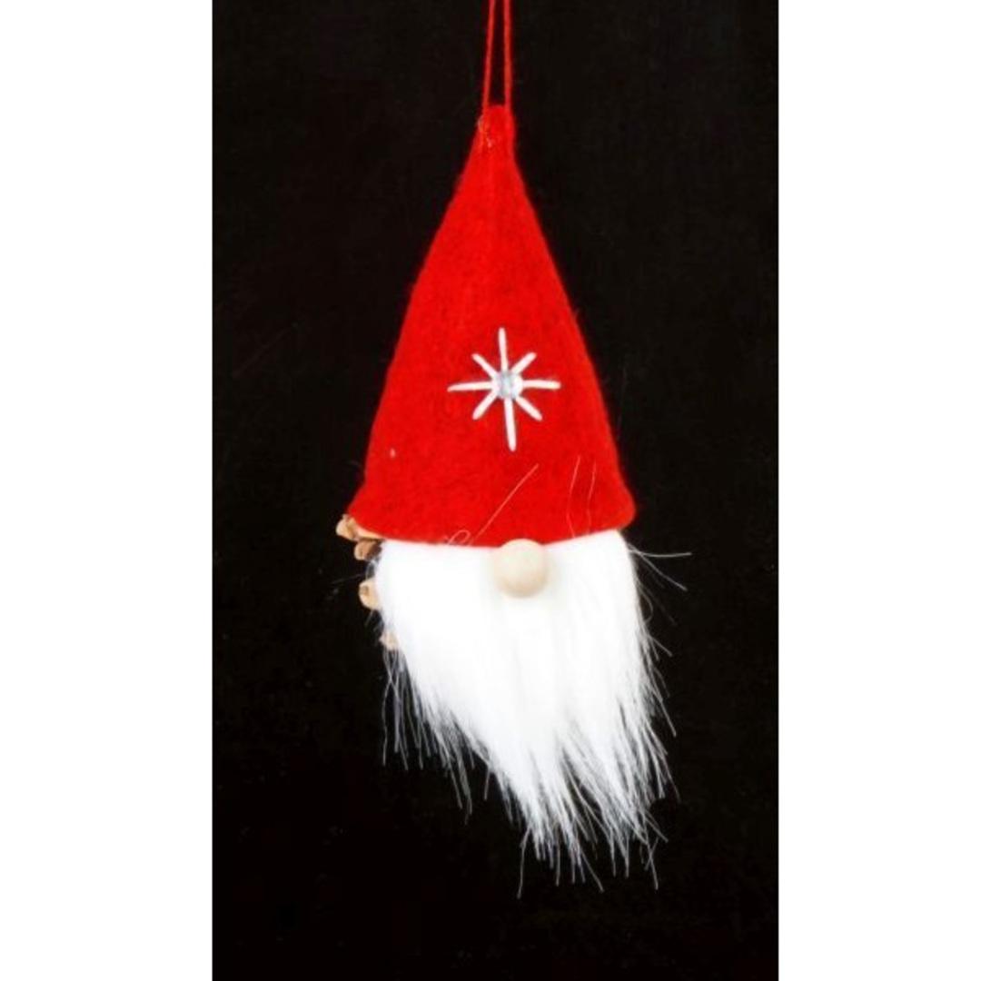 Hanging Scandi Red Santa, Pinecone image 0
