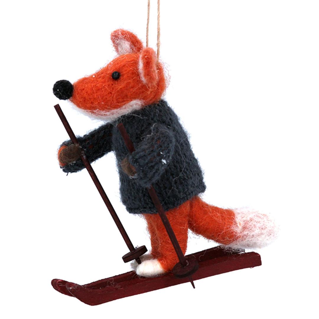 Wool Fox Skiing 11cm image 0