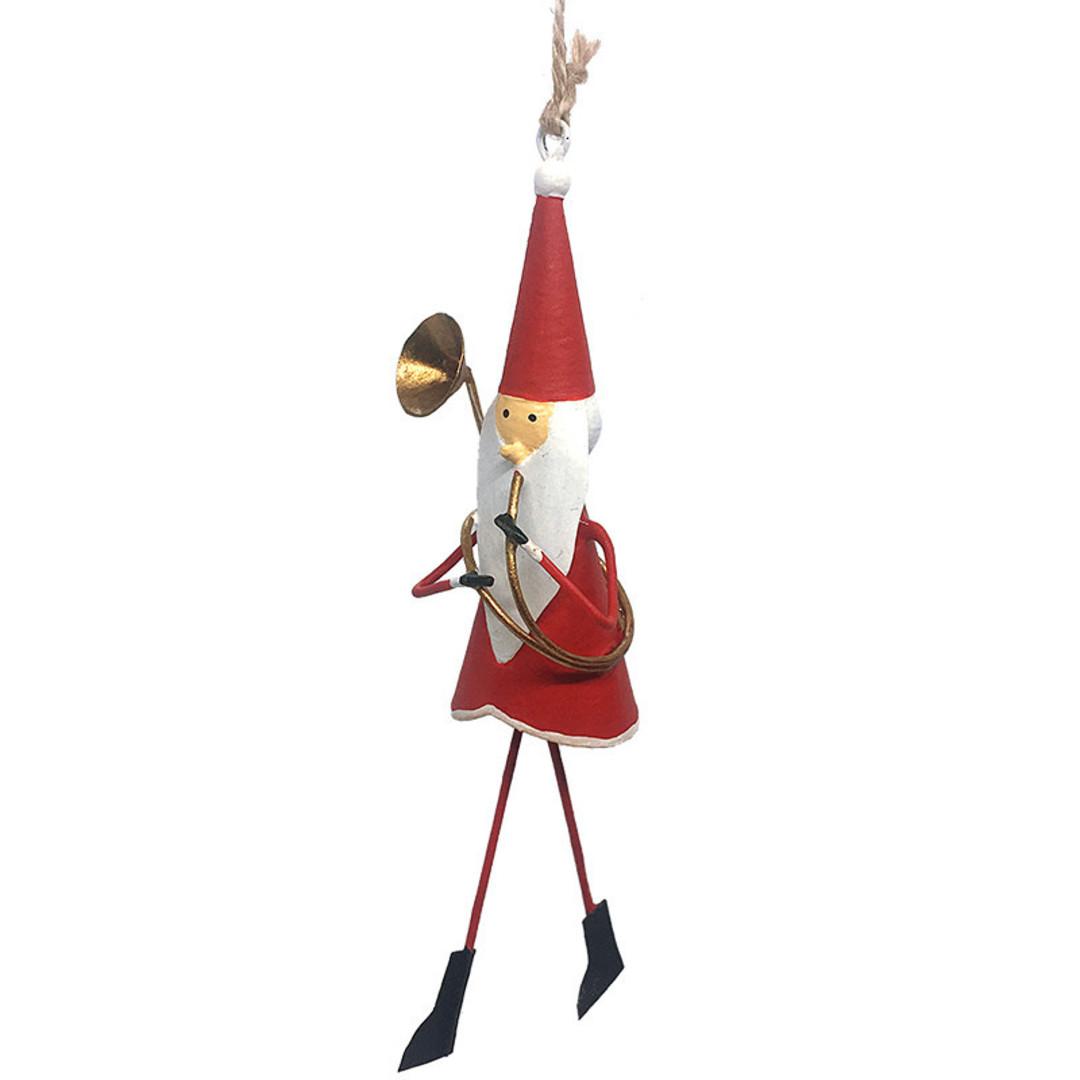 Tin Santa with Trombone 13cm image 0