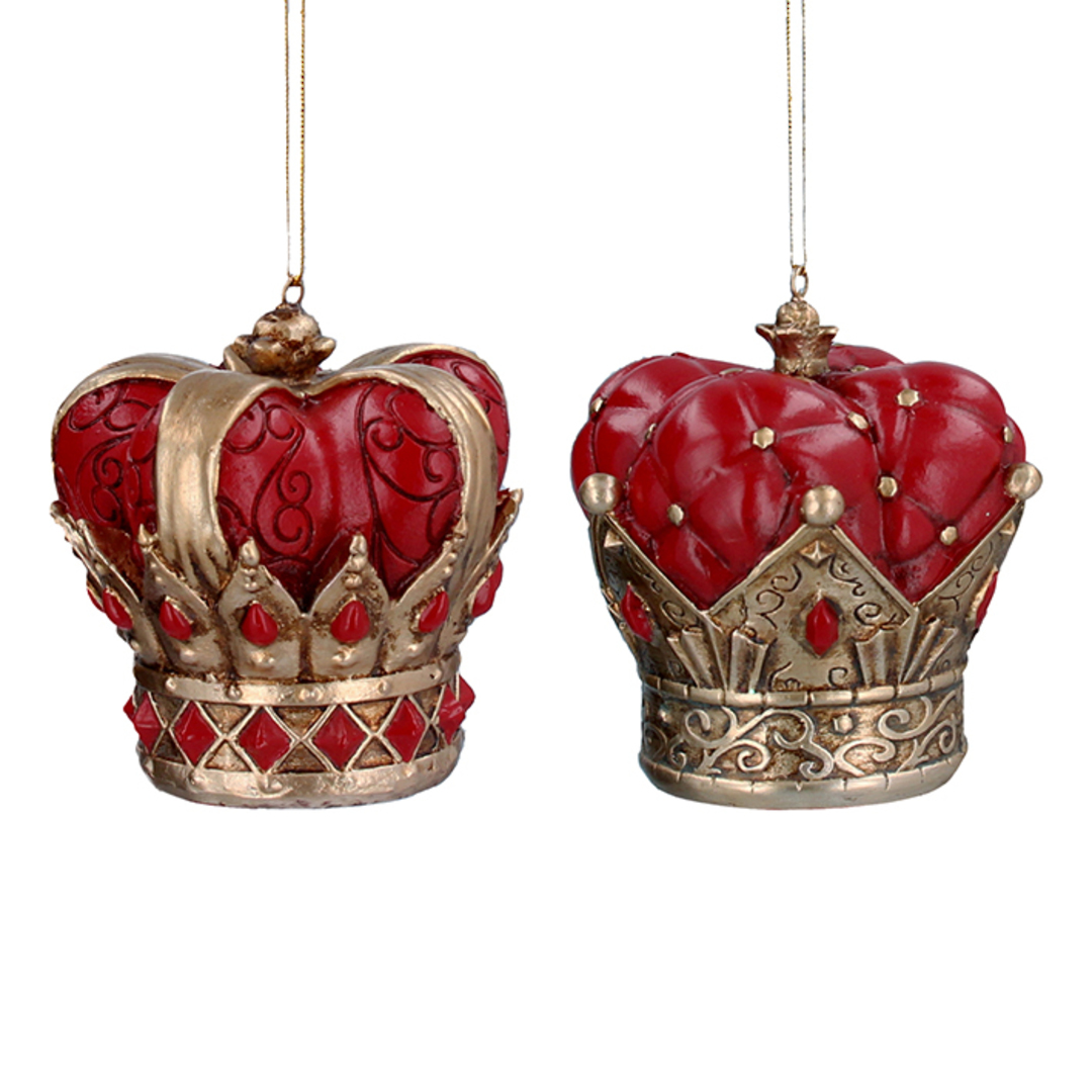 Resin Red and Gold Crown 8cm image 0
