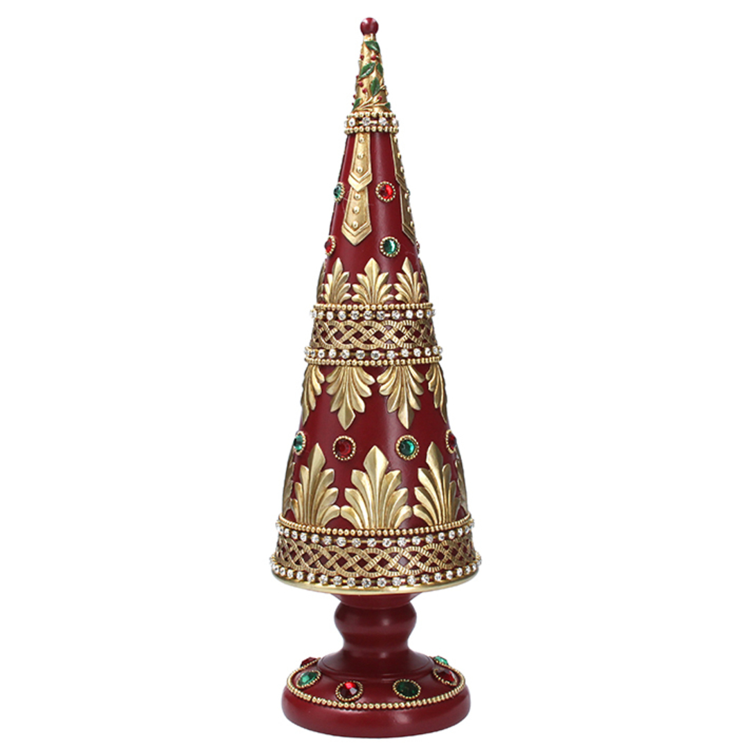 Red Cone Tree, with Gold Pattern 43cm image 0