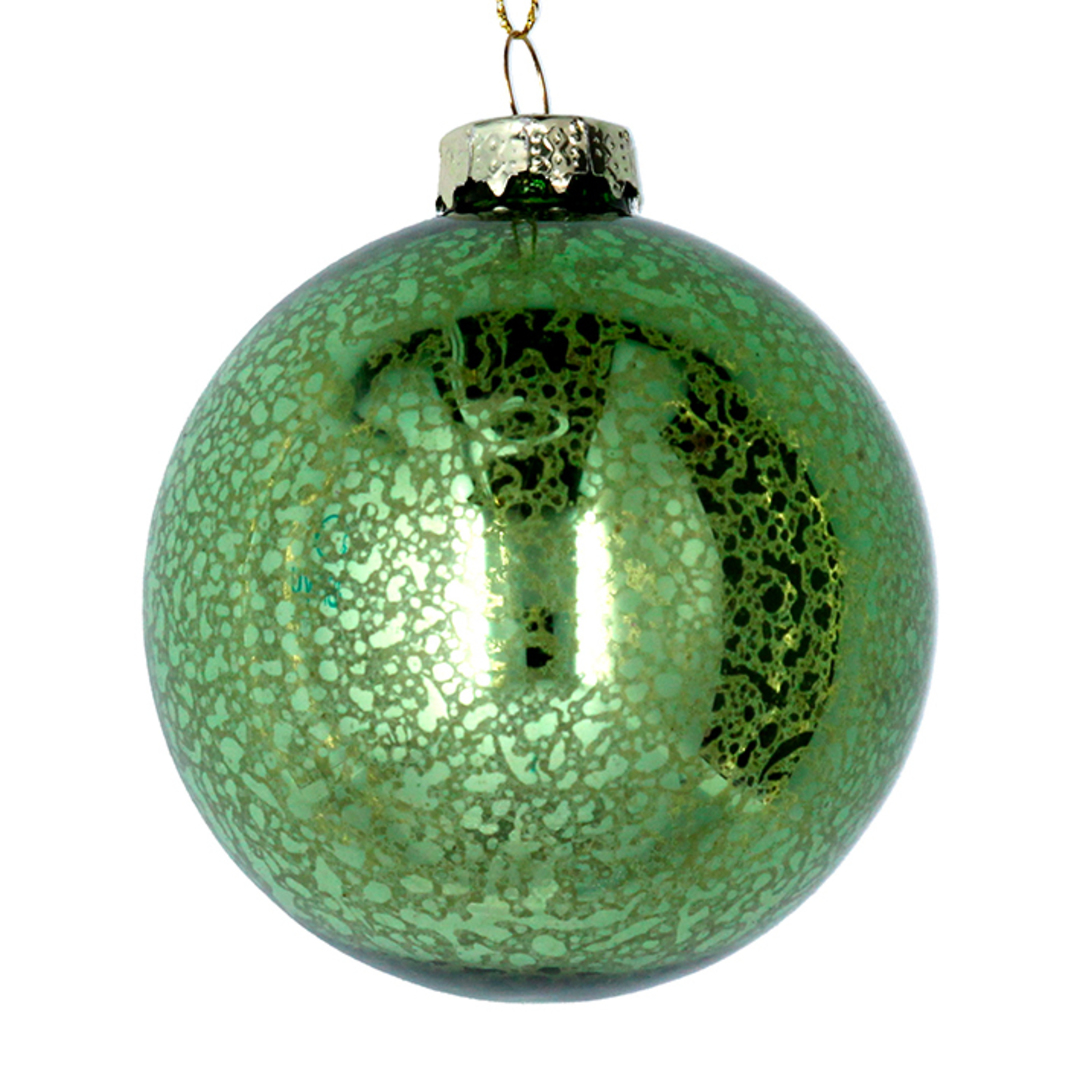 Glass Ball Antique Lime Green 8cm image 0