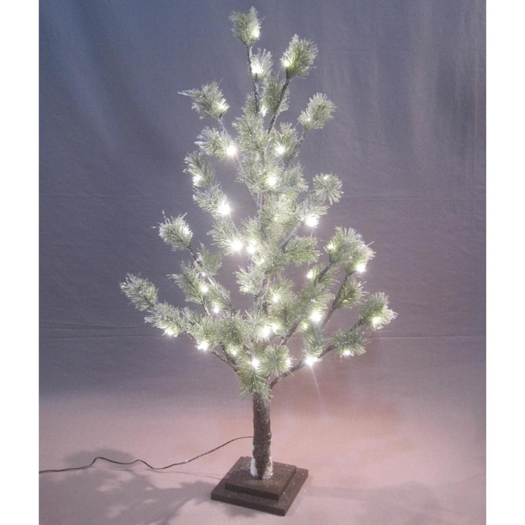 Snowy Green Pine Tree 90cm, 54 LED Lights image 0