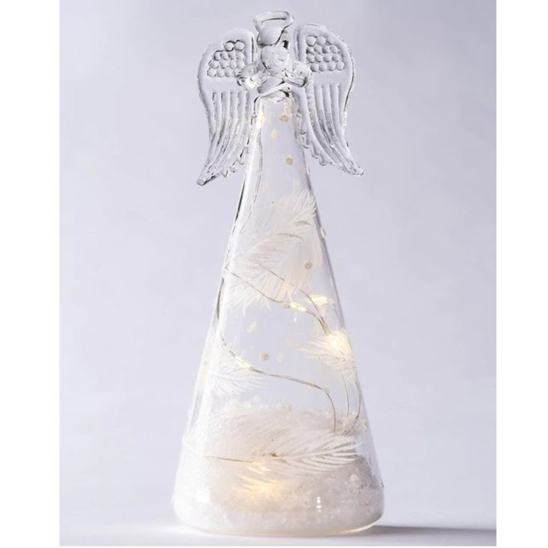 Glass Angel Clear, LED Feather Decor image 0