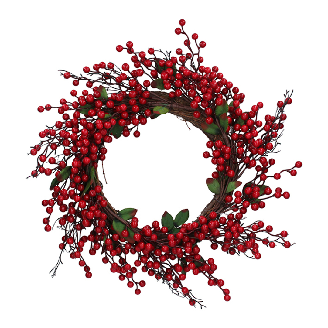 Red Berry Wreath 50cm image 0