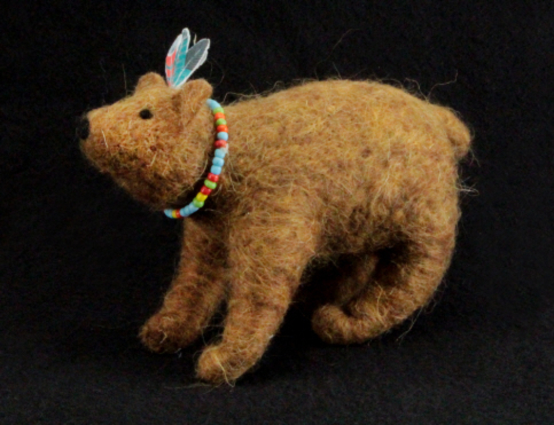 Eco Wool Red Indian Bear 15cm image 0