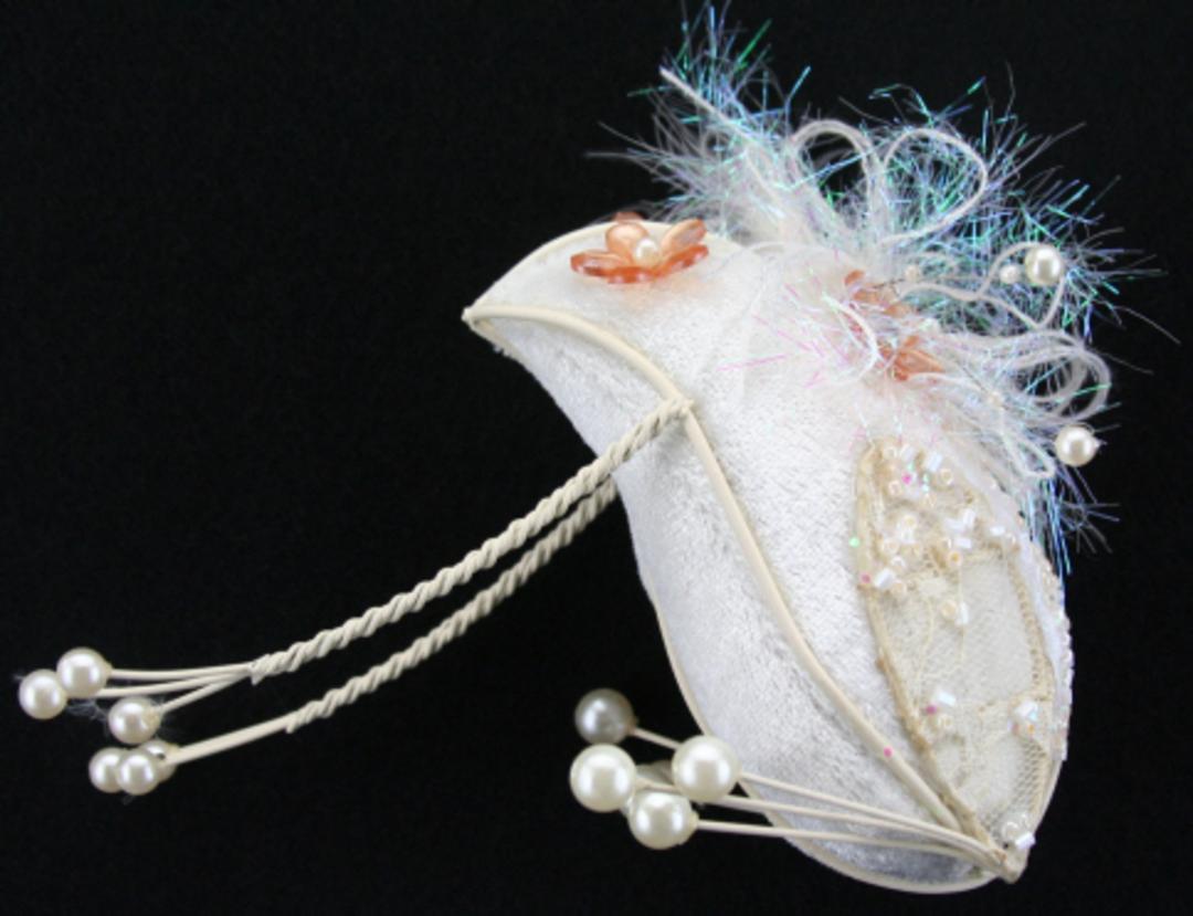 Velvet and Pearl Cream Fairytale Frog 11cm image 0