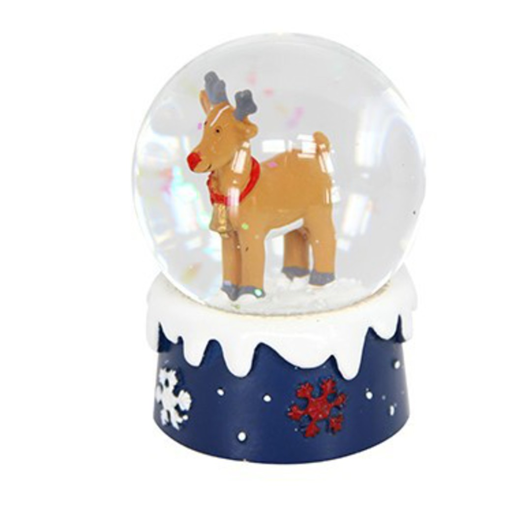 Mini SnowGlobe, Brown Reindeer image 0