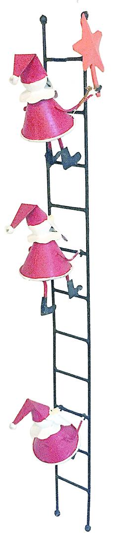 Tin Santas Putting Star on Xmas Tree image 0