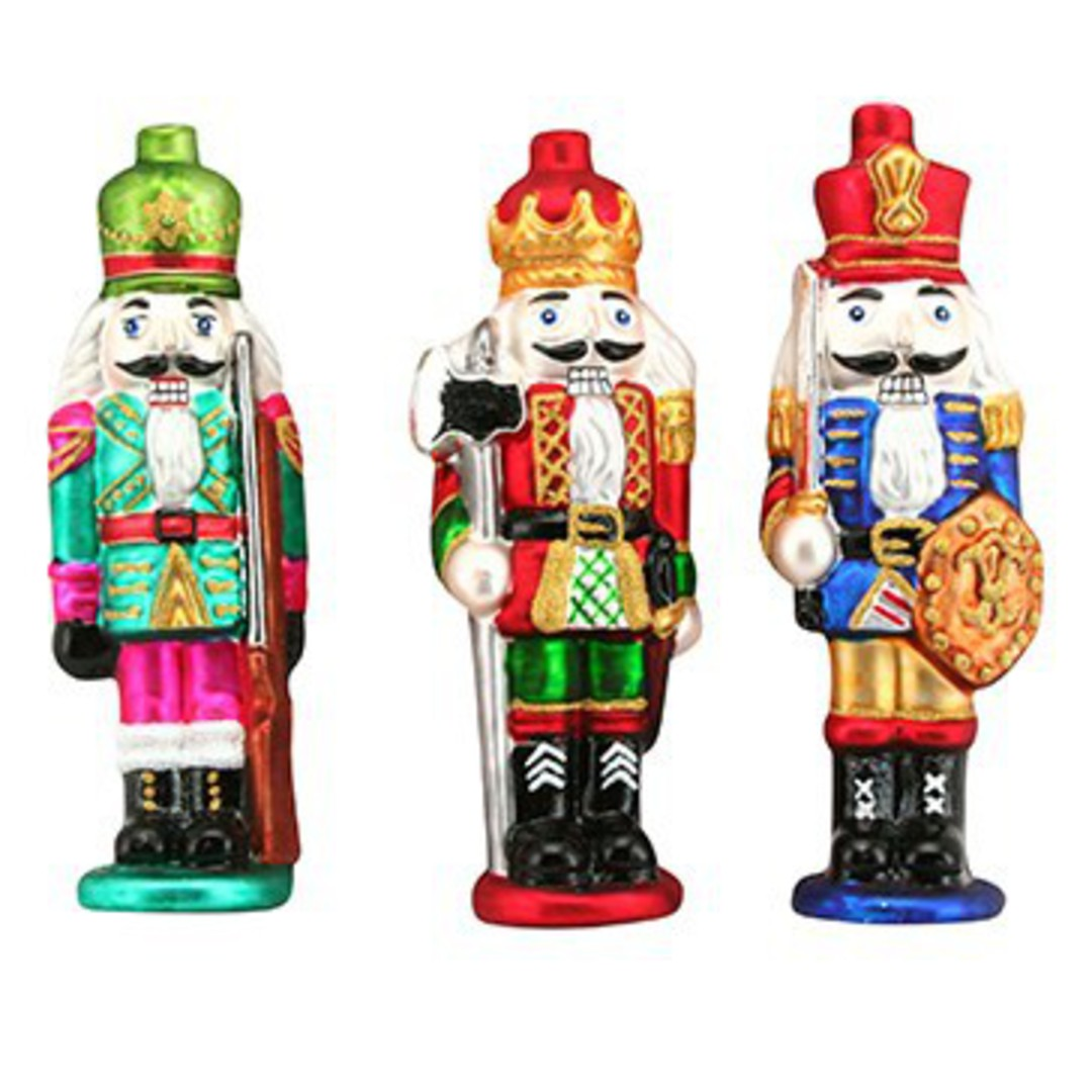 Glass Hanging Nutcracker 12cm image 0