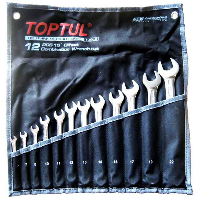 TopTul 12pc R&OE Wrench Set 6mm-22mm image 0