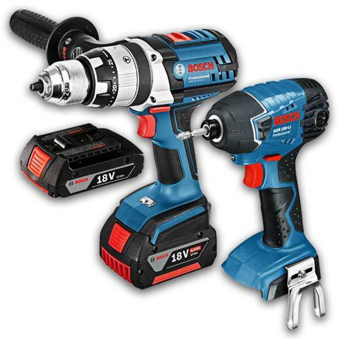 Bosch 18V Drill & Impact Driver 2pc Combo image 0
