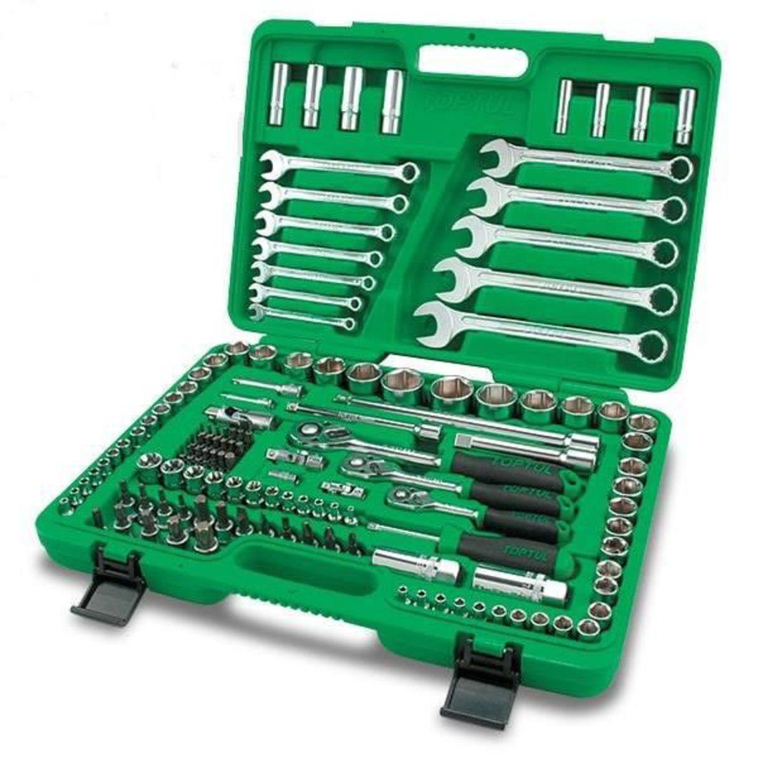 TopTul Tool Kit 1/4,3/8,1/2Dr 130pc image 0
