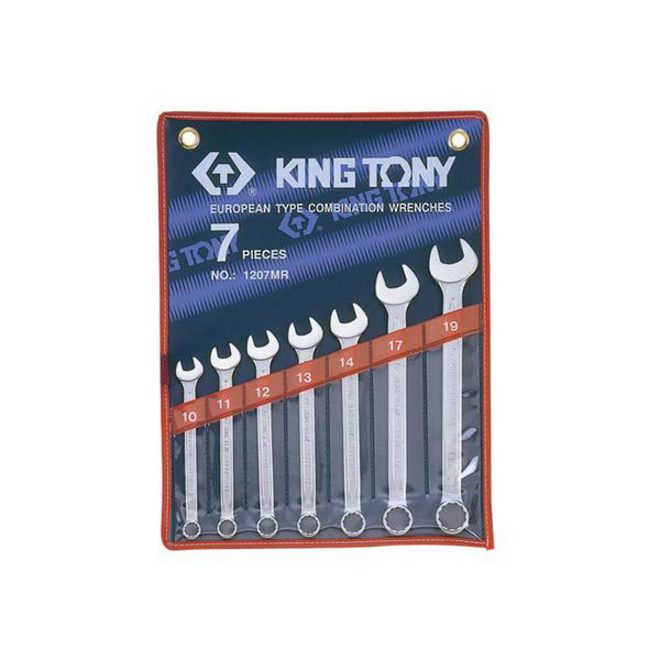 King Tony 7pc R&OE Wrench Set 3/8-3/4 image 0
