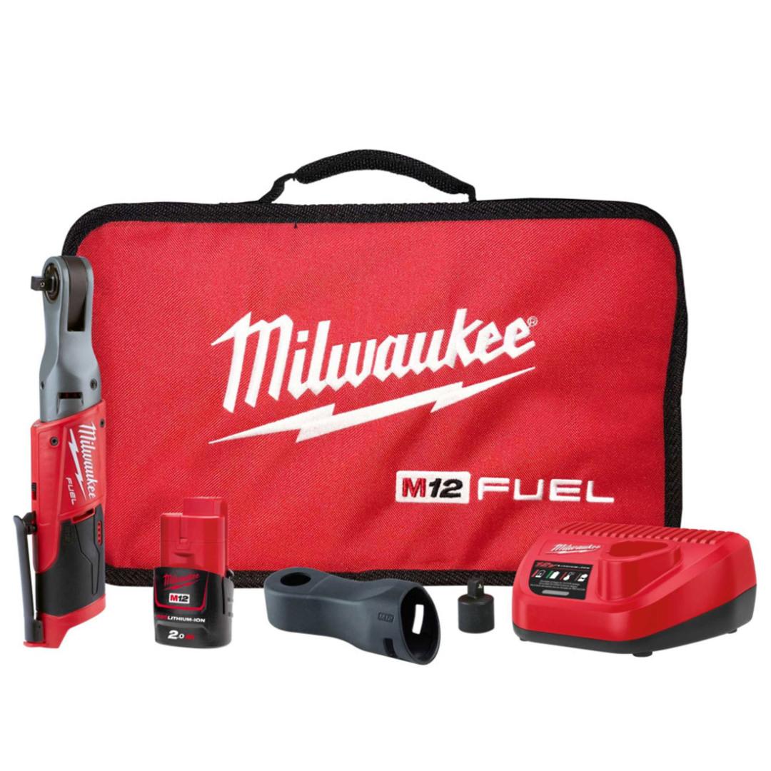 "Milwaukee M12FIR38-201B FUEL 3/8"" Impact Ratchet Kit image 0"
