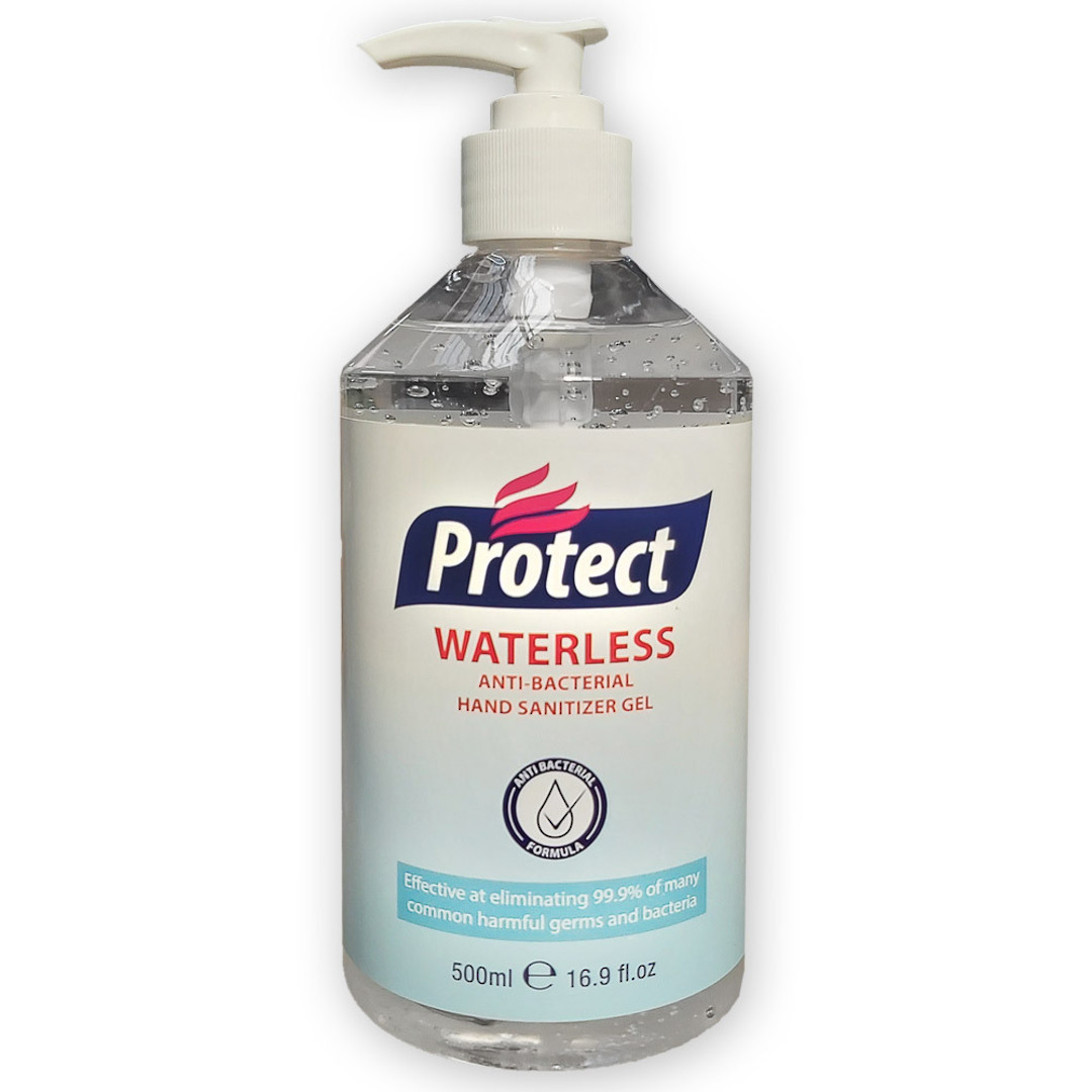 500ml Waterless Anti-Bacterial Hand Sanitiser Gel image 0