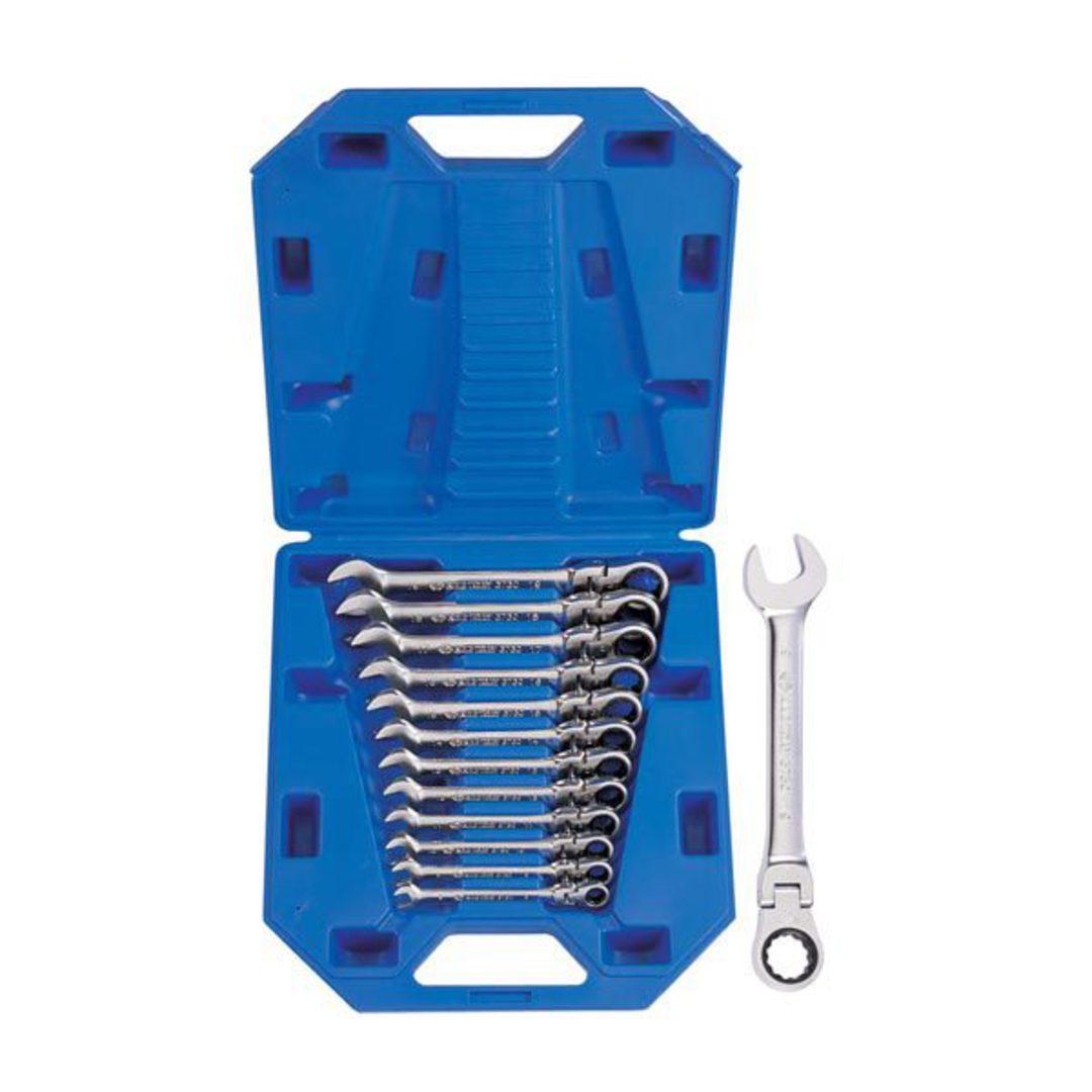 King Tony 12pc Flex Ratchet Wrench Set 8-19mm image 0
