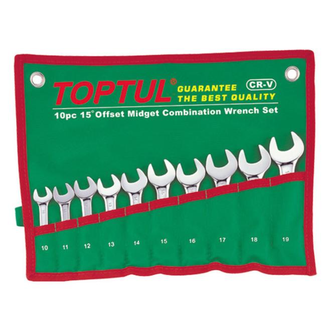 TopTul 10pc Midget Wrench Set image 0