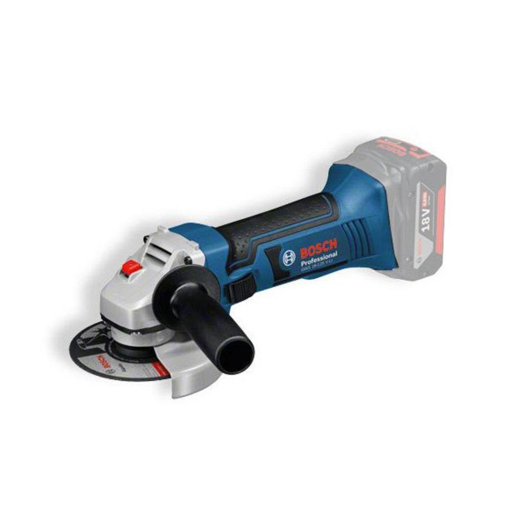 Bosch 18v Angle Grinder 125mm Bare Bones - GWS18-125V-Li image 0