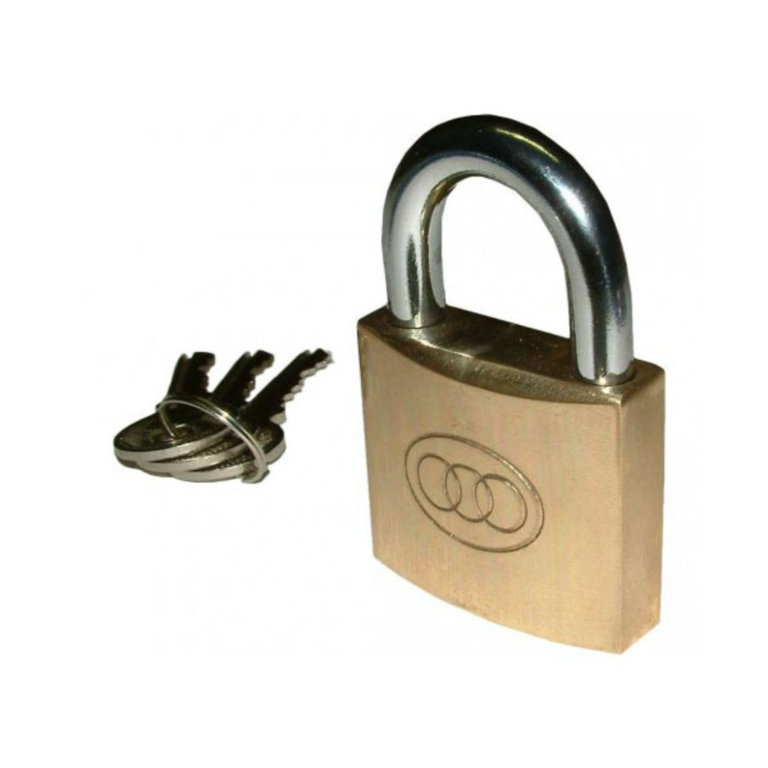Tri-Circle Brass Padlock 25mm image 0