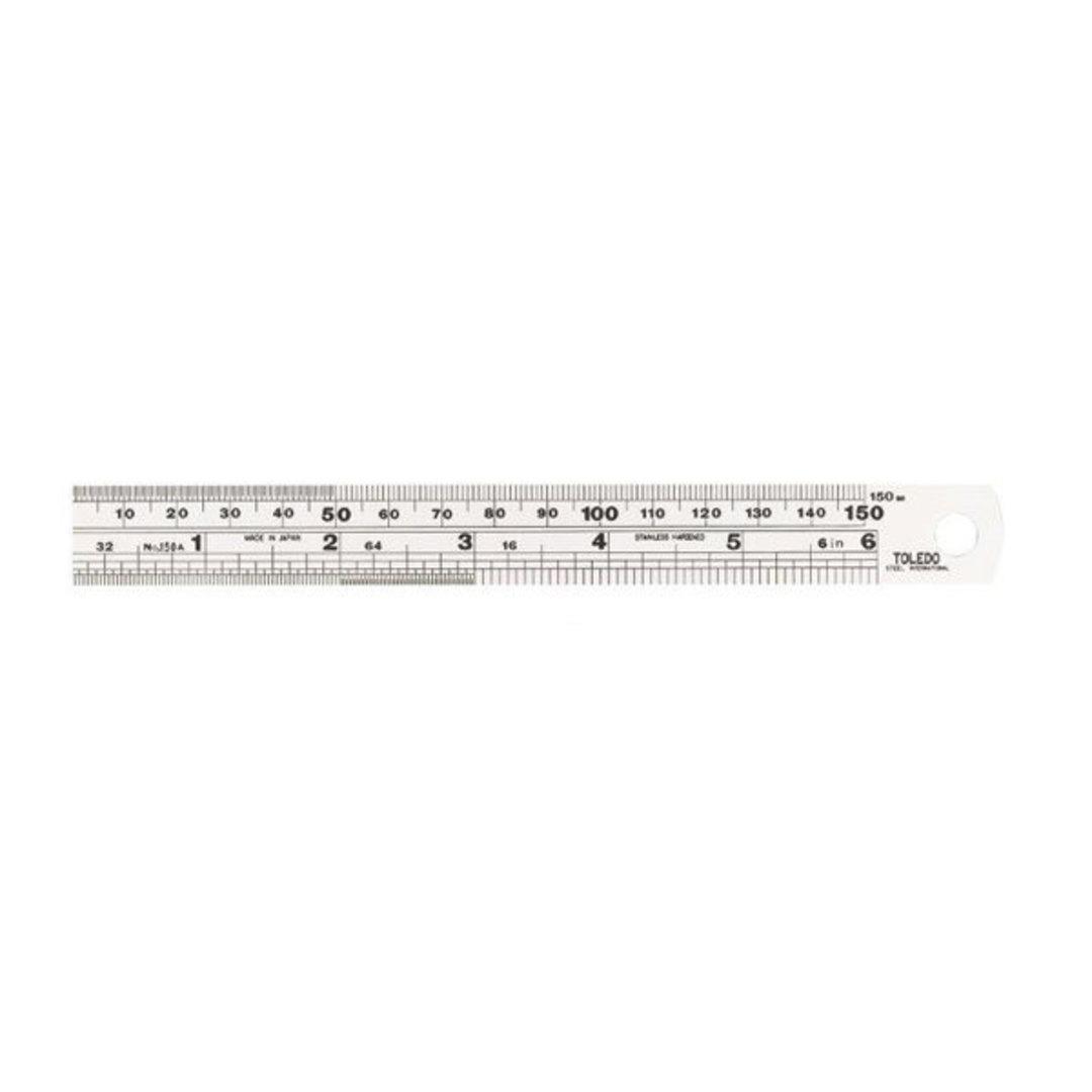 Toledo 150mm Steel Ruler image 0
